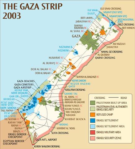 Franja De Gaza Mapa.Rebelion Los Datos De La Genocida Politica Israeli