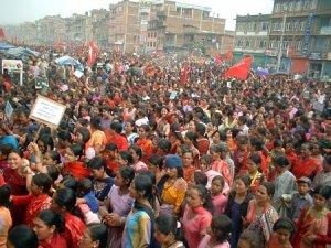 manifestación en Nepal