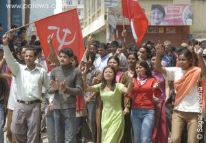 manifestación  Nepal