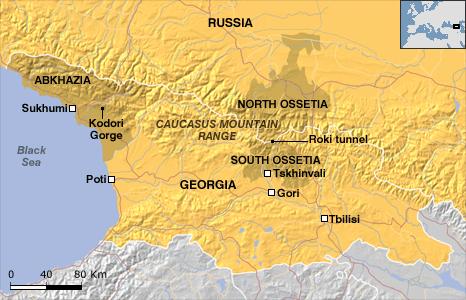 mapa europa del este. Mapa Nº 1 – Georgia