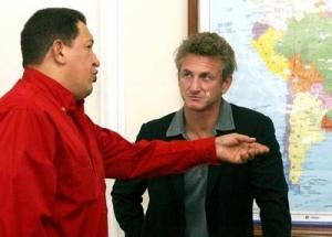 Hugo Chávez y Sean Penn