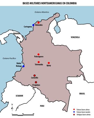 ¿Bases militares norteamericanas en Colombia, extensión de acuerdos militares o implantación de la Escuela de la Américas?